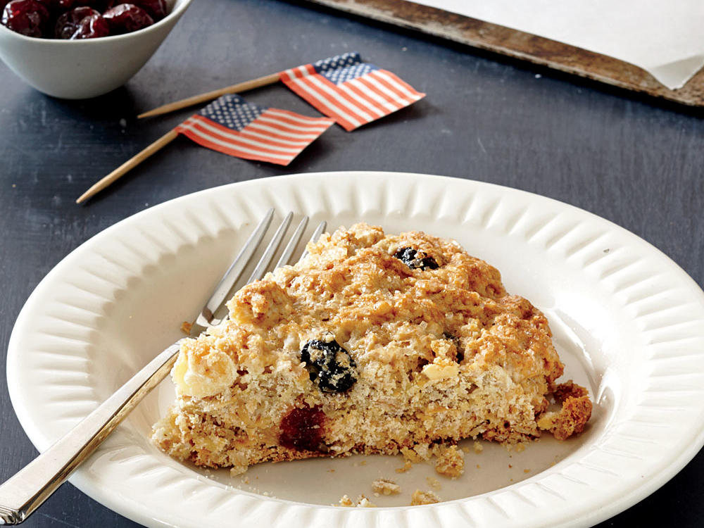 Red, White, and Blue Scones