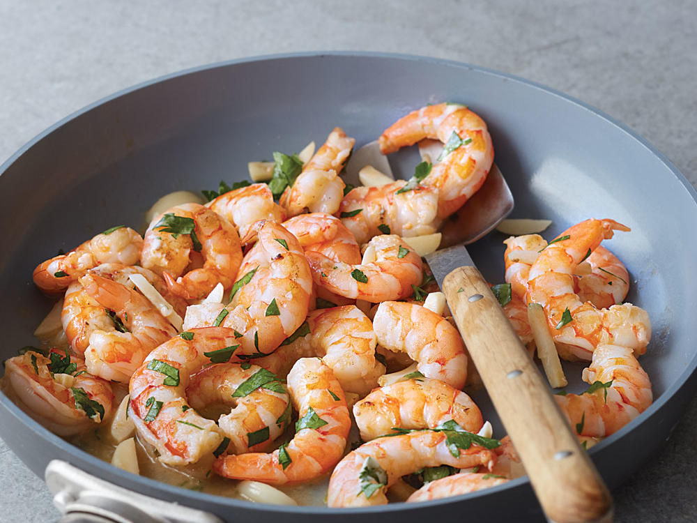 Twice-Cooked Garlic Shrimp