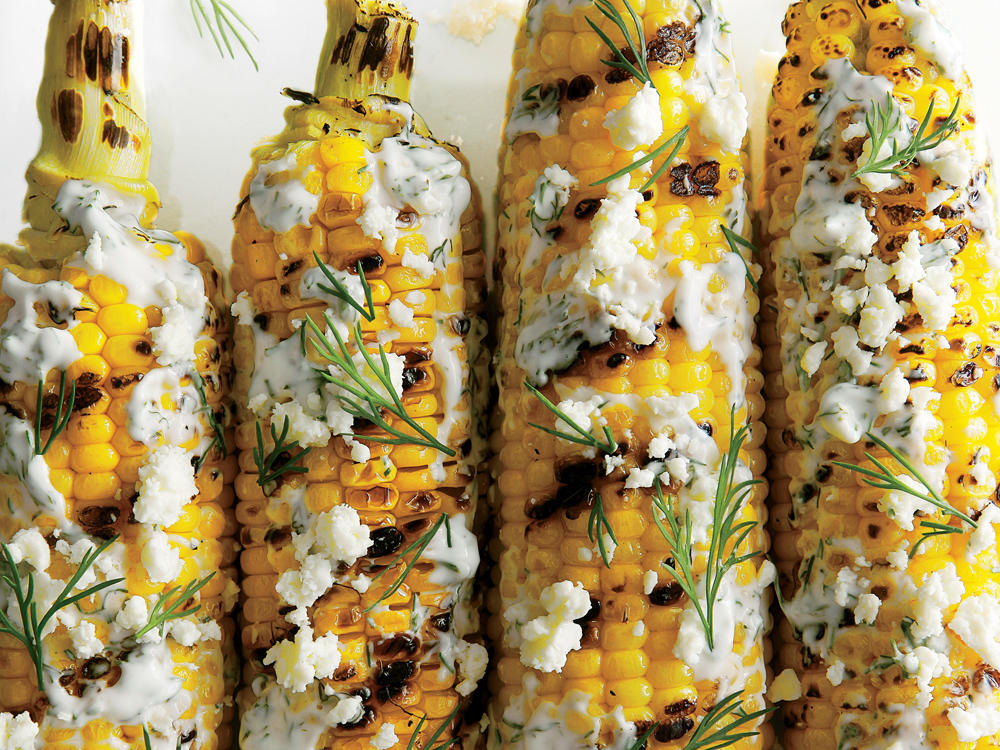 Grilled and Dilled Corn on the Cob Recipe