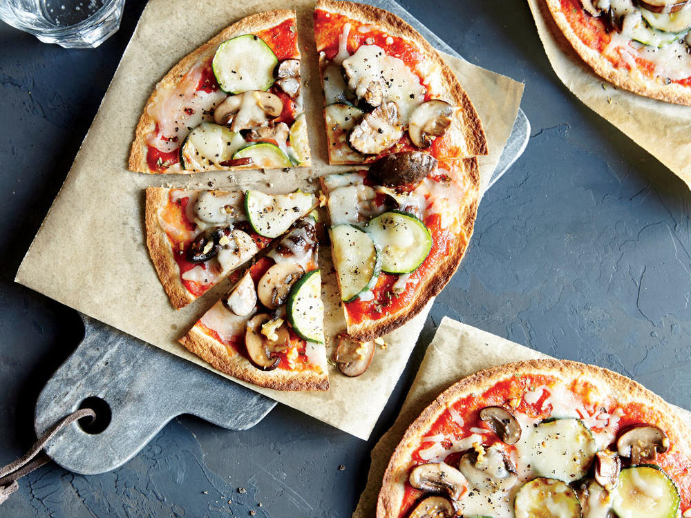 Crunchy, Whole-Wheat Veggie Pizzas