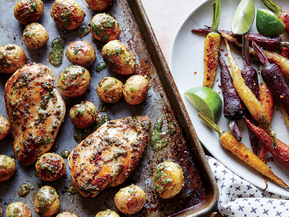 Paleo Sheet Pan Chicken with Roasted Baby Potatoes