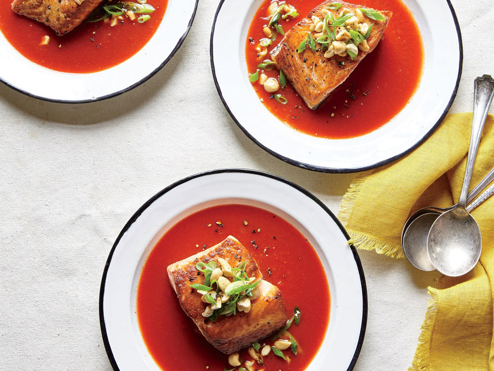 Salmon in Smoky Tomato Broth