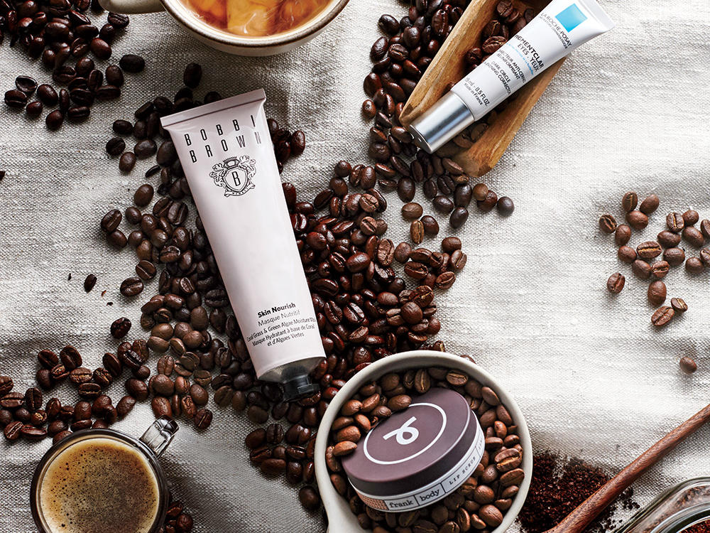 coffee infused beauty products