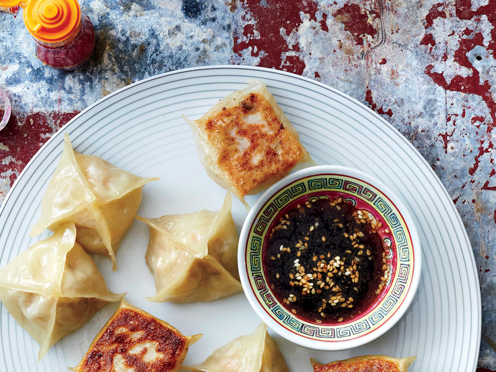 """Spring Roll"" Pot Stickers"