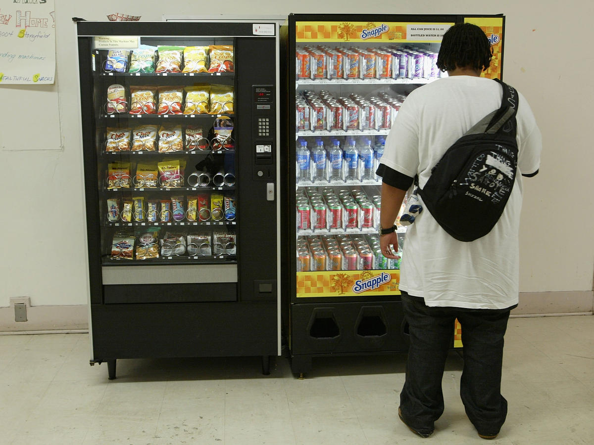 Student Uses Snack Machine