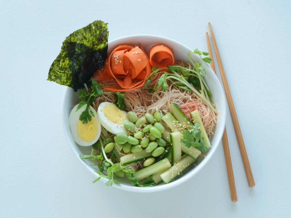 Vegetable Brown Rice Noodle Salad