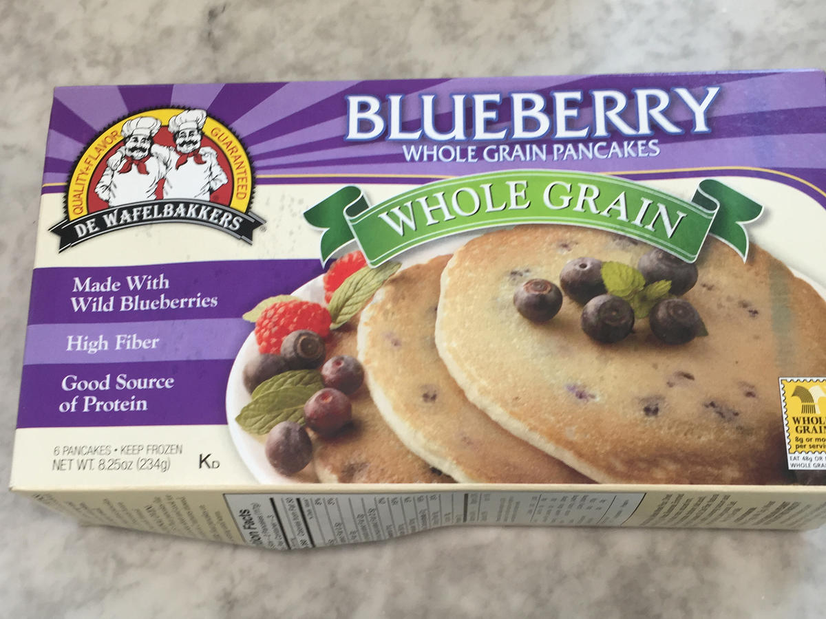 Frozen Food De Wafelbakers Blueberry Pancakes
