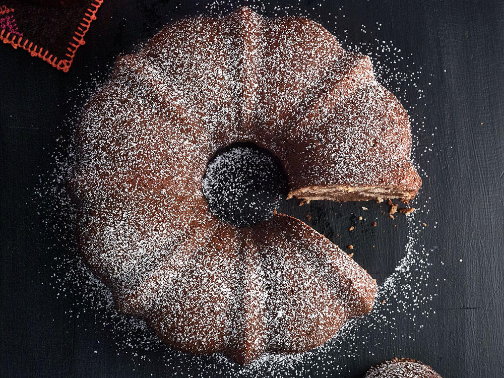 Chocolate-Swirled Pumpkin Bundt