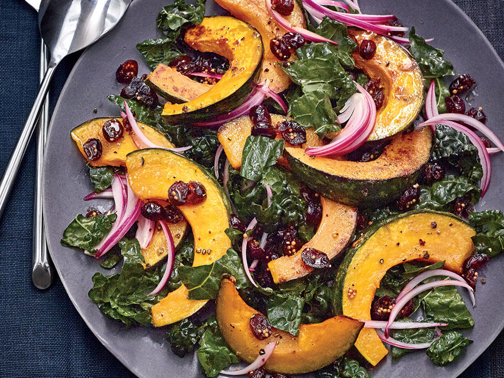 Roasted Kabocha and Kale Salad