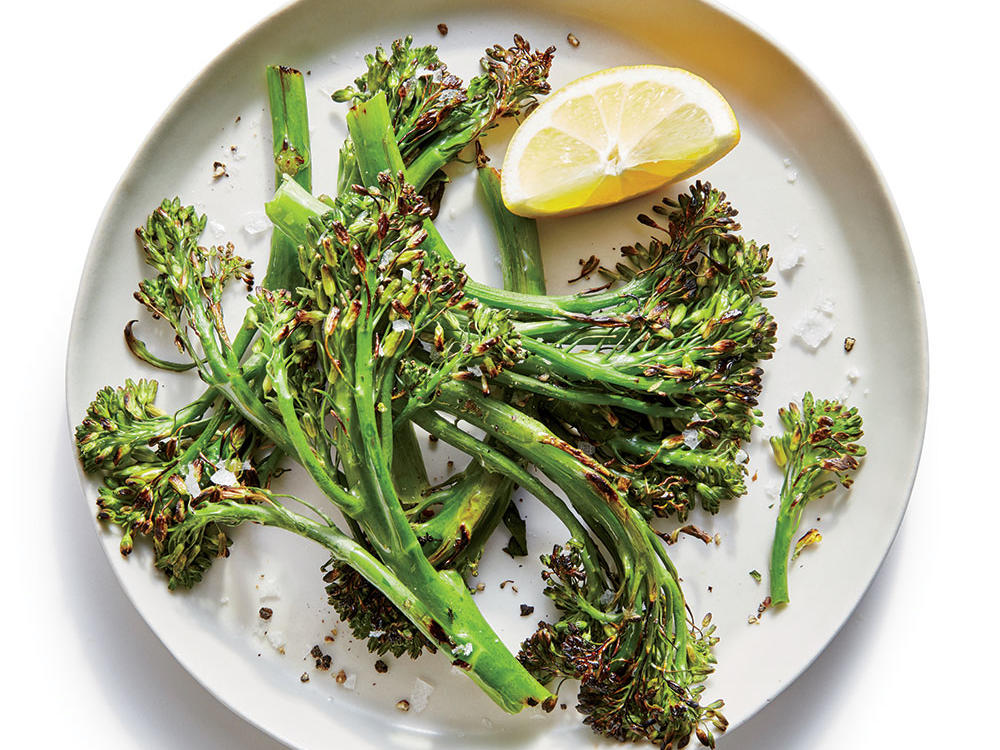 Side: Simple Blistered Broccolini