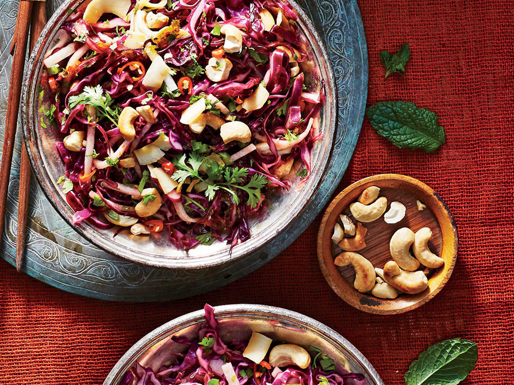 Cashew, Coconut, and Cabbage Slaw