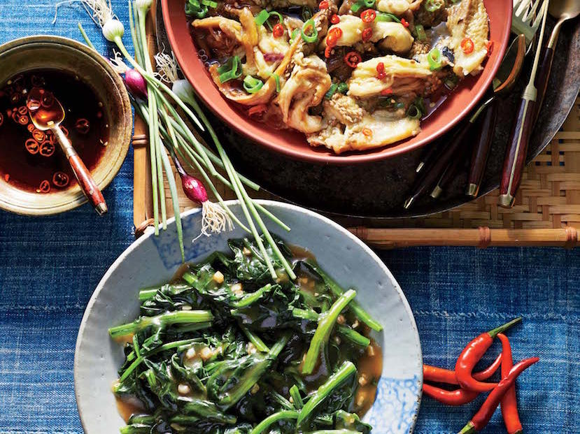 Stir-Fried Water Spinach with Garlic
