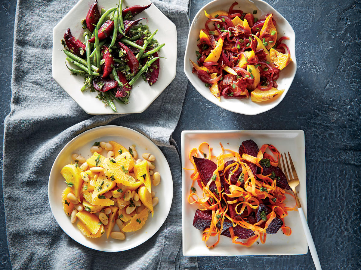 Speedy Beet and Bean Salad with Herb Vinaigrette
