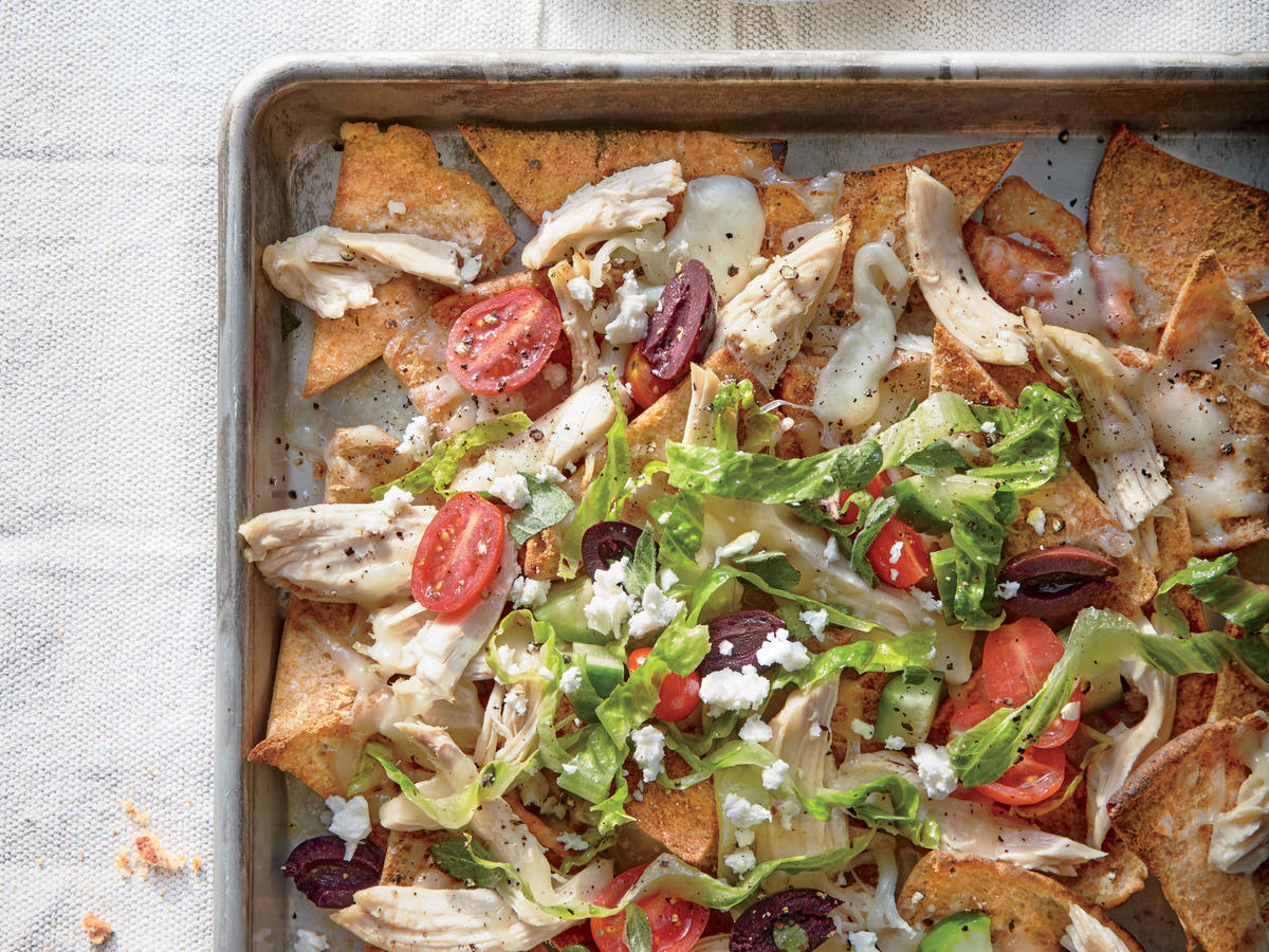 Greek Chicken Nachos