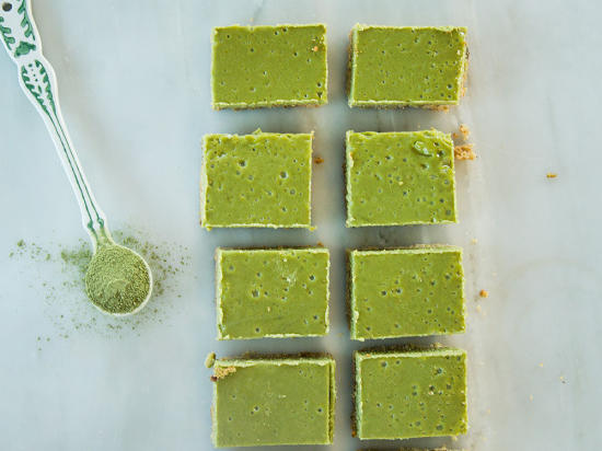Matcha Cheesecake Bars