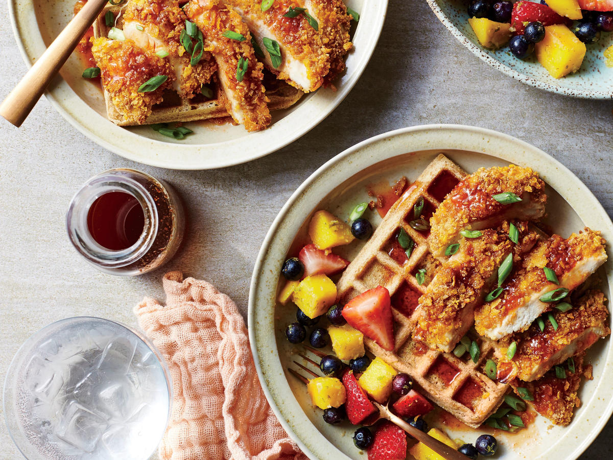 Chicken and Waffles with Kicky Syrup