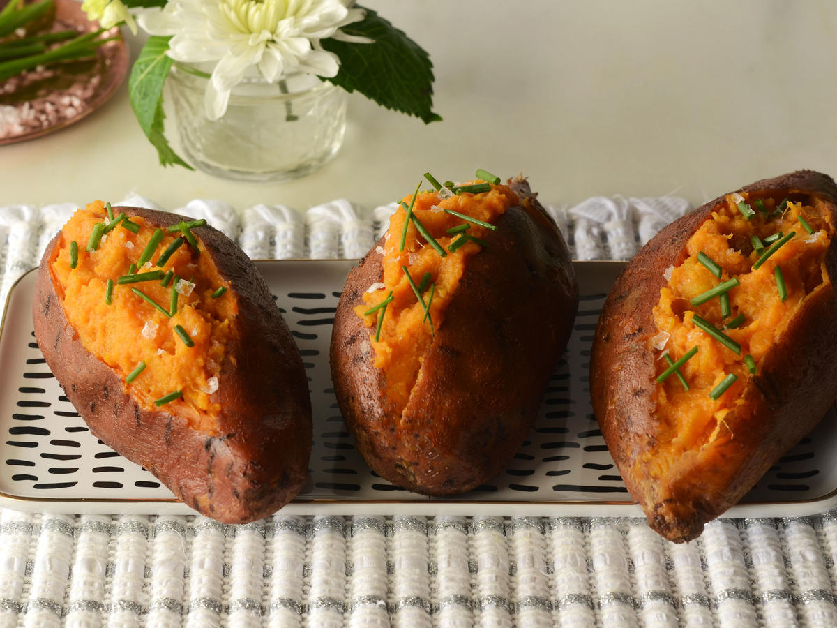Paleo Mini Baked Sweet Potatoes