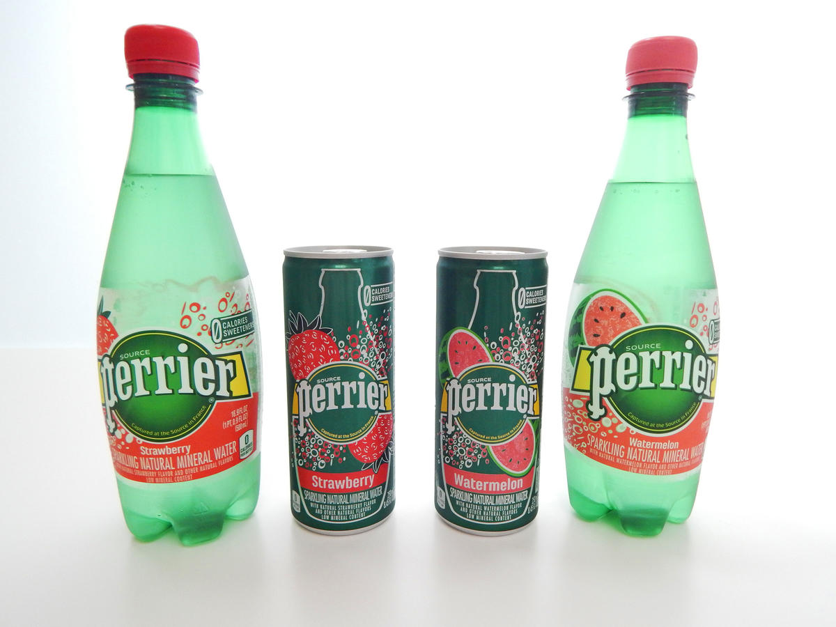 Flavored Watermelon and Strawberry Perrier