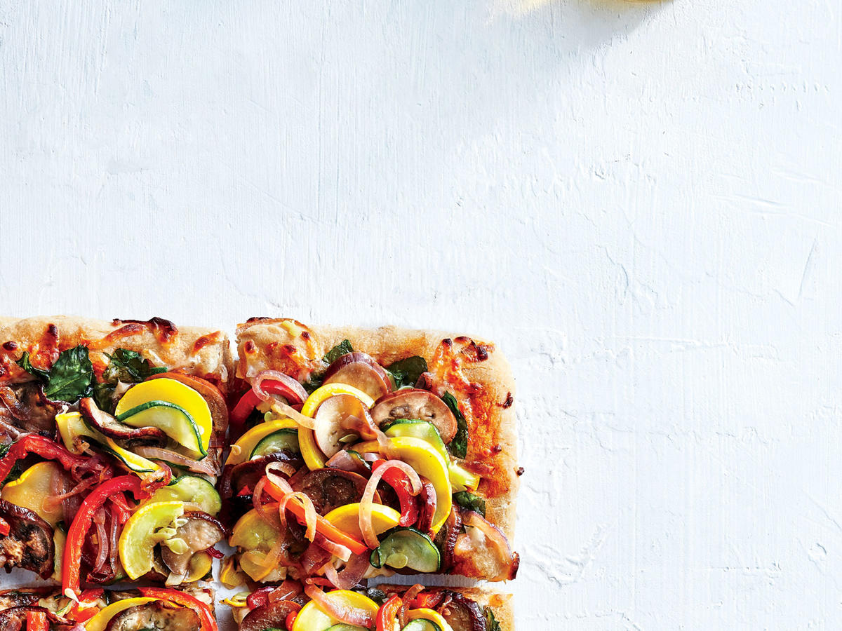 Supremely Veggie Pizza Recipe - Cooking Light