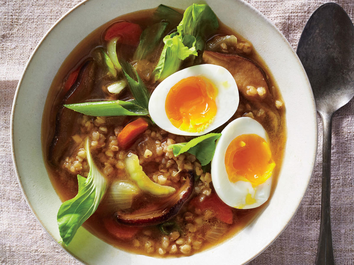 Umami Broth with Buckwheat and Vegetables