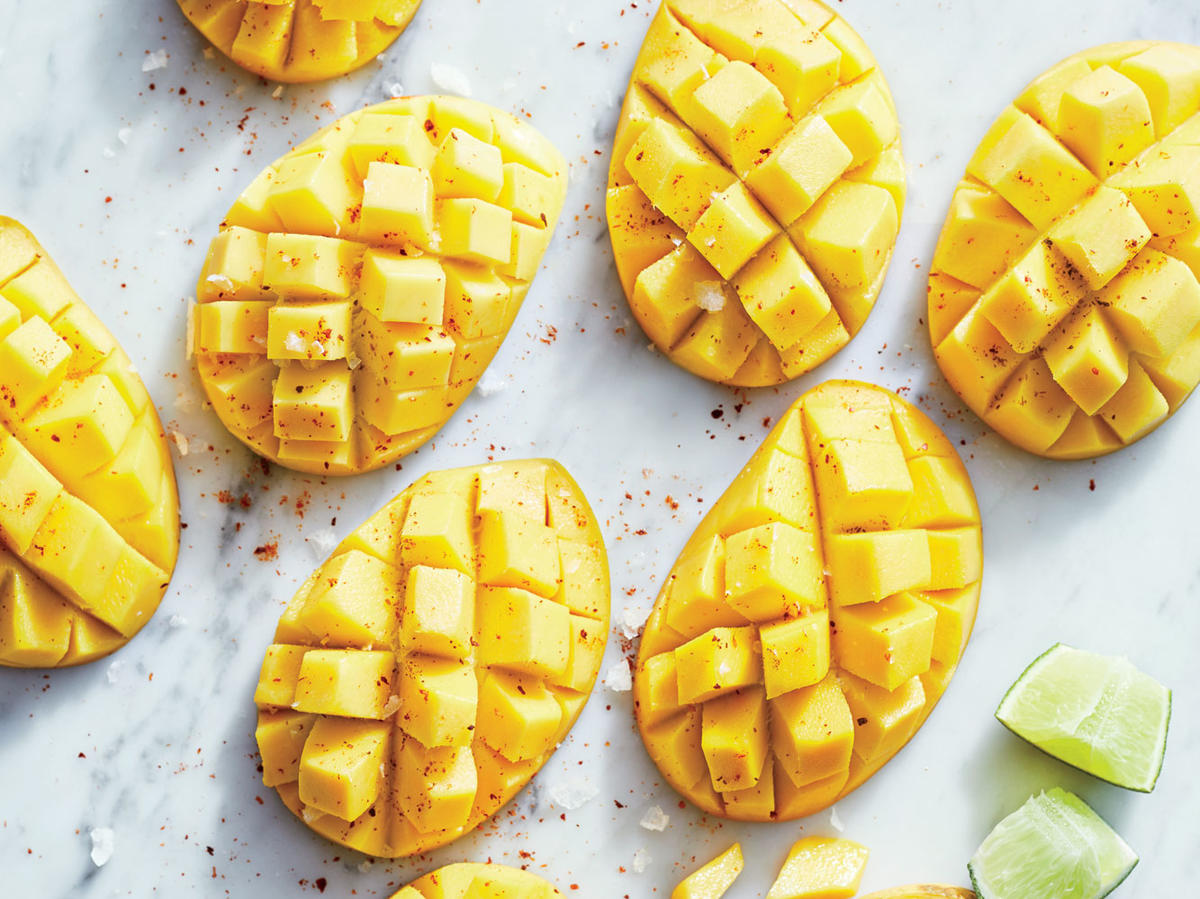 Champagne Mangoes with Lime and Sea Salt