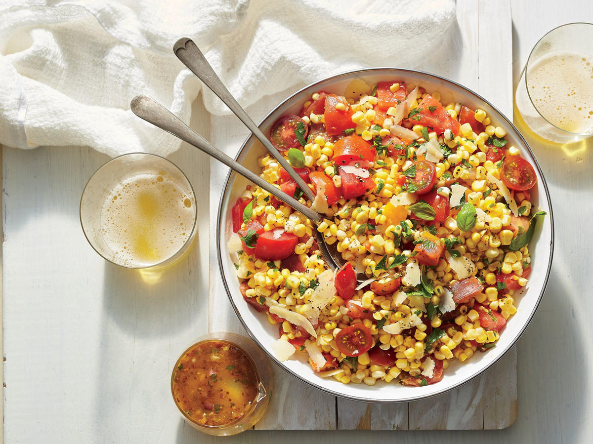 Corn, Tomato, and Basil Salad
