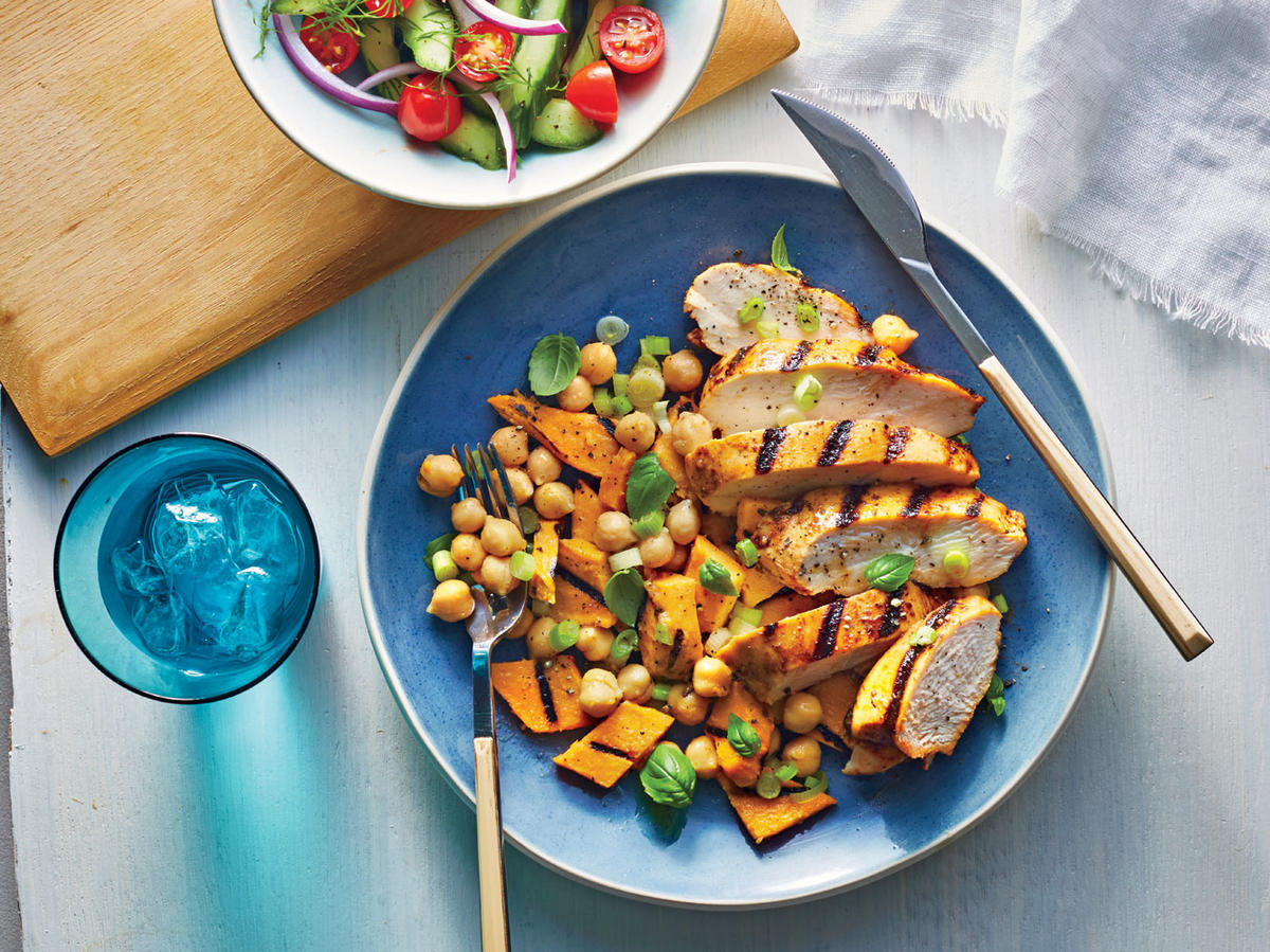 Grilled Chipotle Chicken and Sweet Potato Toss