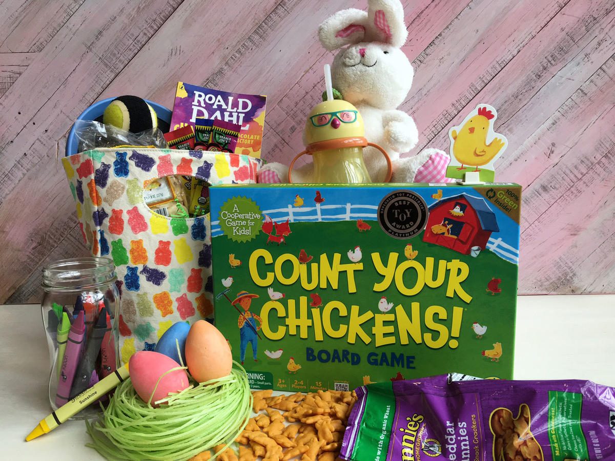14 ideas for a healthier easter basket cooking light healthier easter basket ideas for kids negle Images