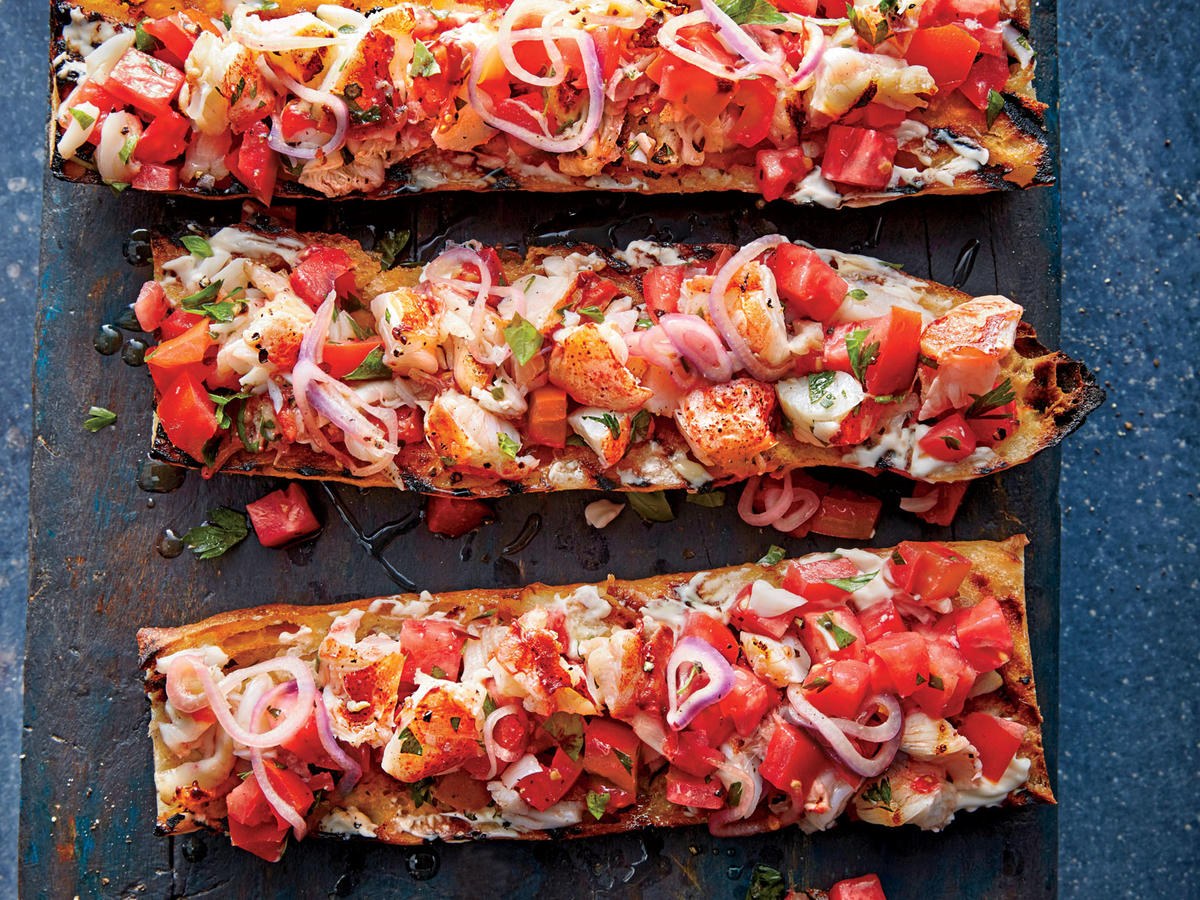 Lobster Roll Bruschetta - Cooking Light