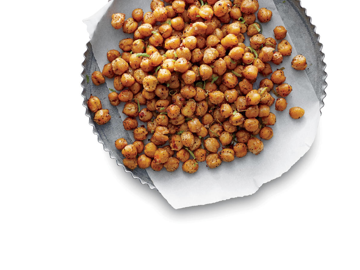 Chili-Lime Roasted Chickpeas