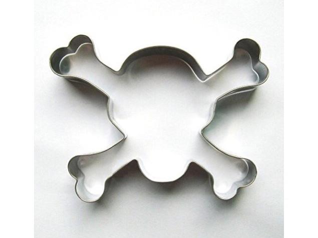 Teanfa 1 PCS Skull & Crossbone Halloween Fondant Pastry Baking Cookie Cutter