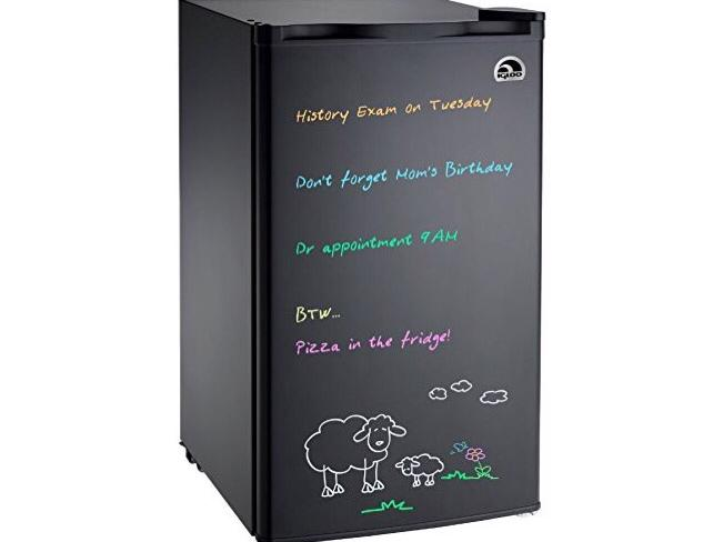 Igloo FR326M-D-BLACK Erase Board Refrigerator with Neon Markers