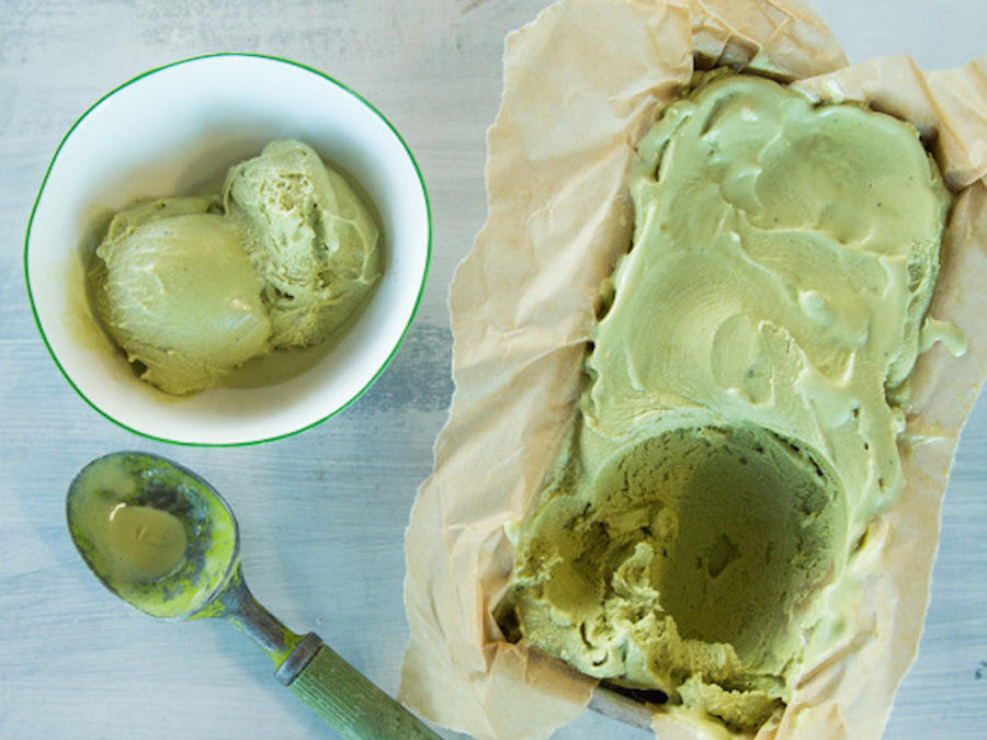 Matcha-Tahini Ice Cream