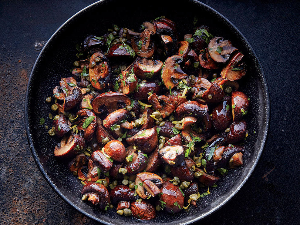 Garlic-Caper Roasted Mushrooms