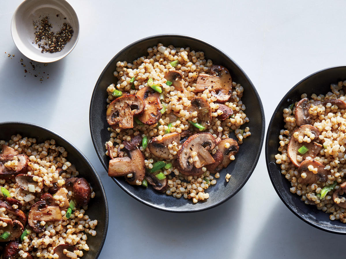 Sorghum with Mushroom and Miso