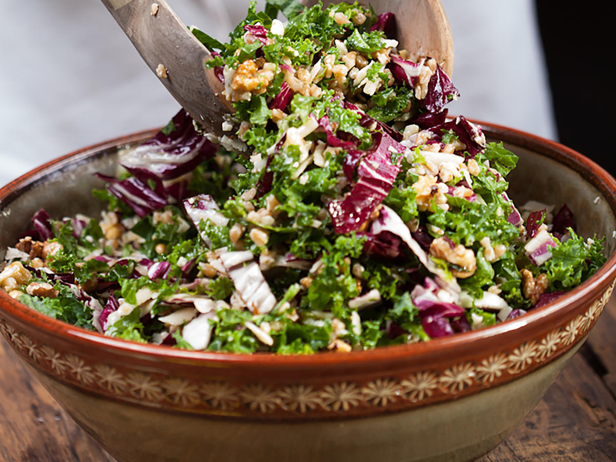 Kale-Radicchio Salad Run Fast Eat Slow