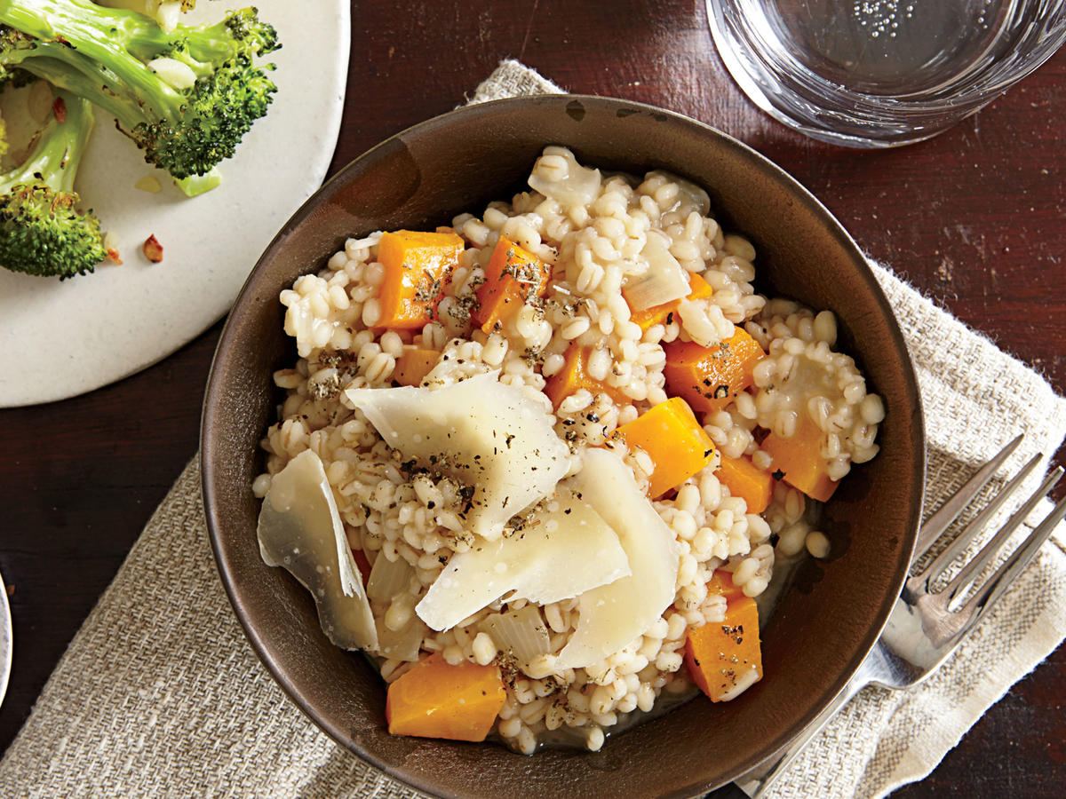 Barley and Butternut Risotto