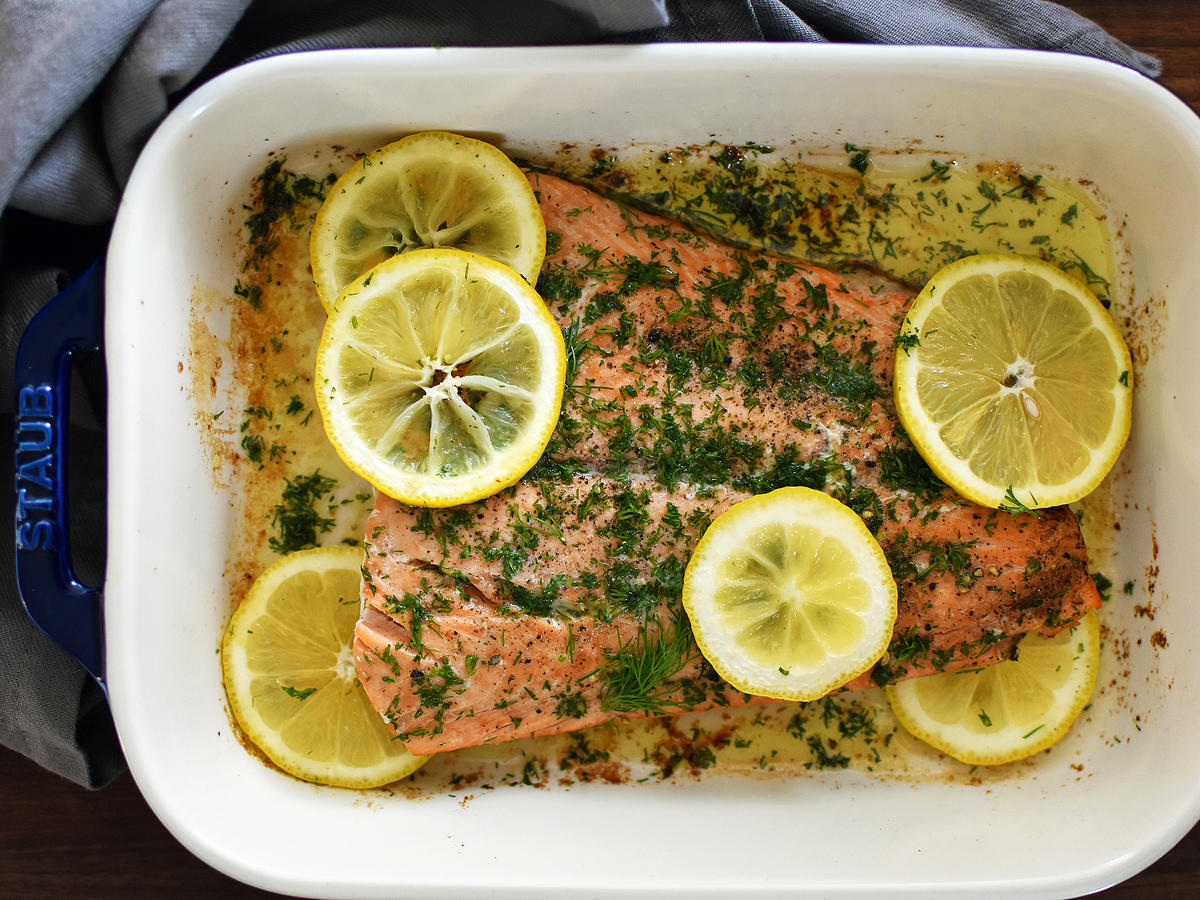 Baked Salmon With Lemon and Dill - Cooking Light