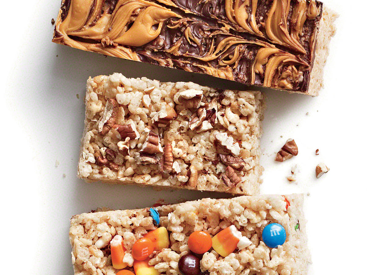 Browned Butter-Pecan Chewy Crispy Bars