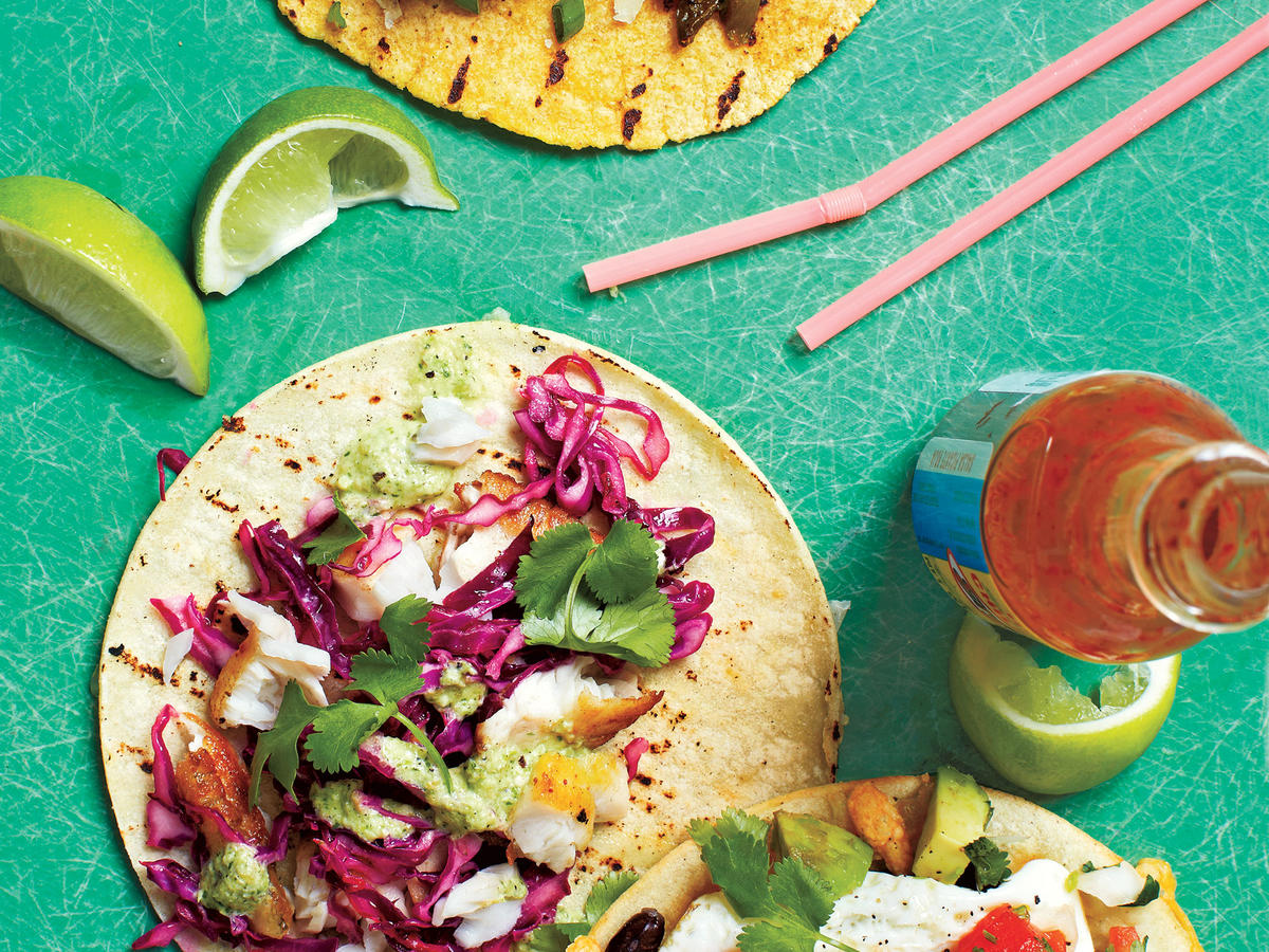 Fish Tacos With Tomatillo Sauce