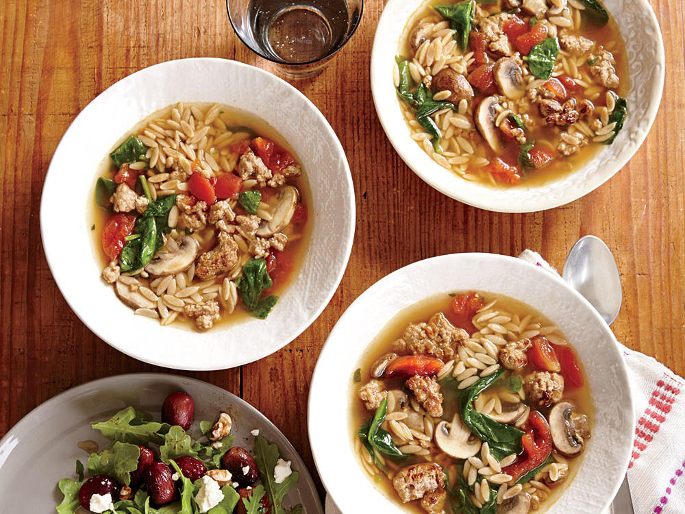 Italian Turkey and Orzo Soup