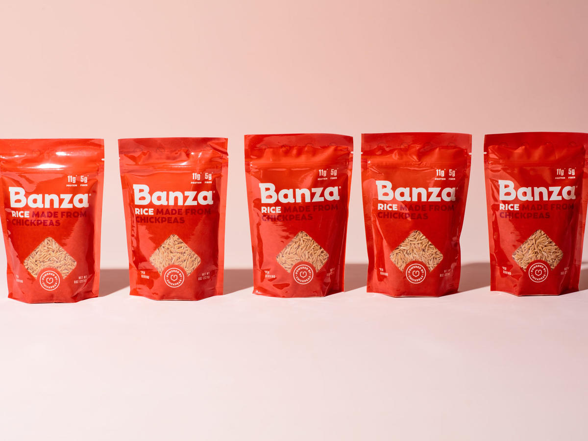 Chickpea Pasta Maker Banza Launches a Chickpea Rice