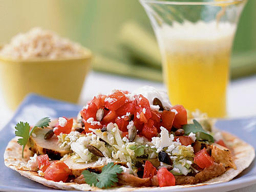 Grilled Chicken Tostadas