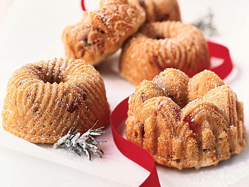 Orange Mini Bundt Cakes