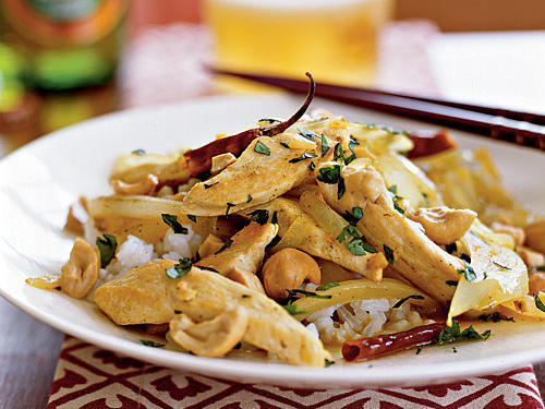 Curried Chicken and Cashews