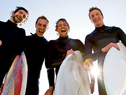 The family-owned Air and Speed Surf Shop operation offers surf lessons, as well as board- and wet suit-rentals.