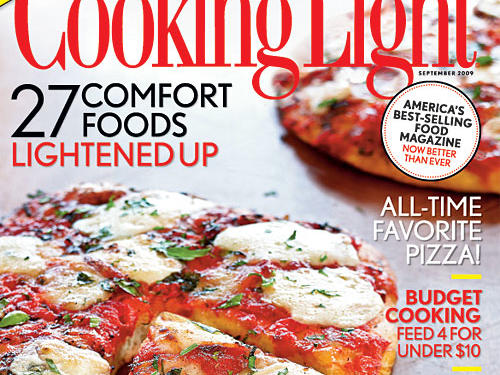 September 2009 Cover of Cooking Light magazine