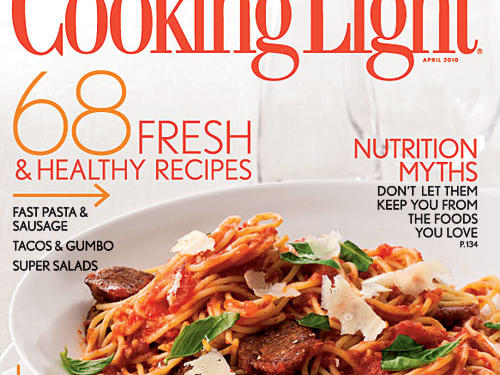 Cooking Light Magazine, April 2010 Cover