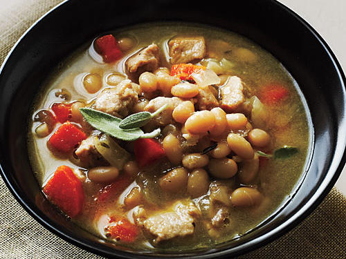 Pork and Herbed White Beans Recipe