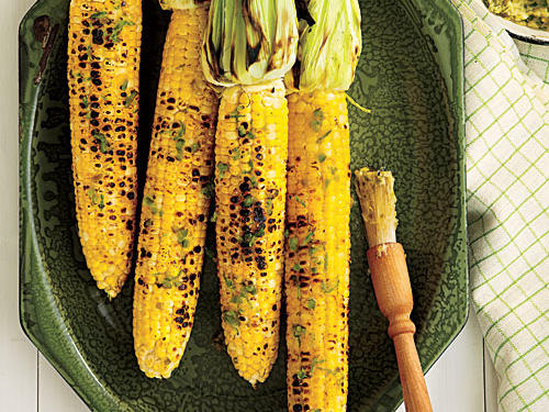 Grilled Corn with Roasted Jalapeño Butter